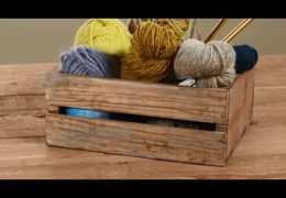 How to Make a Faux Barnwood Crate